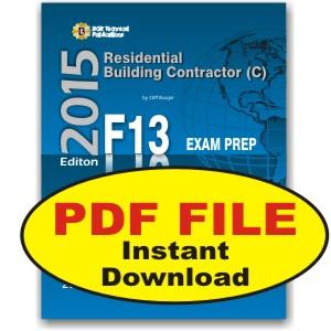 F11 Icc National Standard General Contractor Exam Questions Workbook